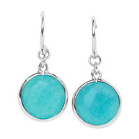 JA5967 - Round Stone Earring - Teal