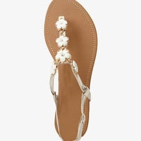 Bejeweled Floral Thong Sandals | FOREVER 21 - 2047713447