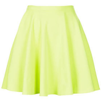 Fluro Mini Skater Skirt - Skirts  - Clothing