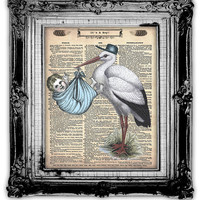 ITS A BOY Dictionary Art Print Antique by FoxHunterStudios on Etsy