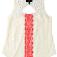 Jessica Simpson Sweetheart Lace Top