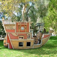 Red Beard&#x27;s Revenge Pirate Ship Playhouse