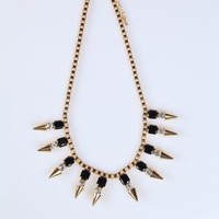 Gold Chain Spike Necklace