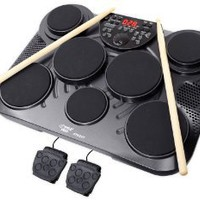 Pyle-Pro PTED01 Electronic Table Digital Drum Kit Top w/ 7 Pad Digital Drum Kit: Musical Instruments