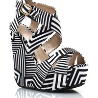 strappy-abstract-wedges WHITEBLACK - GoJane.com