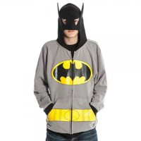 Amazon.com: Dc Comics Batman Mens Gray Costume Hoody: Clothing
