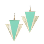 ROIAL GoldTeal Spear Earrings