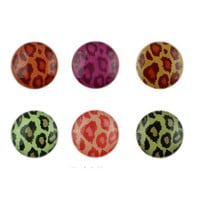 Set of 6 Leopard Cheetah Animal Print Home Button Stickers