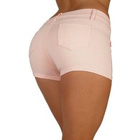 Basic Short Shorts Premium Stretch French Terry Moleton With a gentle butt lifting stitching - In 10 Colors !!!