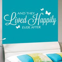 And they lived happily ever after - Fairy Tale Wall Decal Quote - Wall Decals | My Wall Decal Shop | Decorating Ideas &amp; Wall Stickers