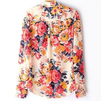 Floral Chiffon Shirt