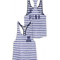 Milwaukee Brewers High-Low Striped Tank