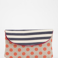 Deux Lux Striped Dotty Clutch