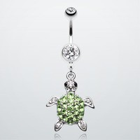 Under the Sea Turtle Belly Button Ring