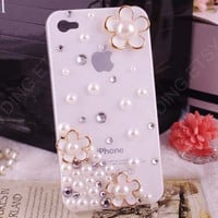 Bling bling flowers iphone 5 case iphone 4 case iphone 4s case samsung galaxy s4 phone case bling cut samsung galaxy s2 s3 note 2 case