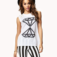 Spiked Basic Diamond Muscle Tee