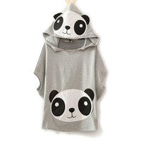 Cute Panda Cartoon Batwing Loose Hooded T-shirt from TheGeeksFunny