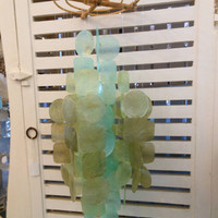 Light Green Capiz Windchime by LiveCoastal on Etsy
