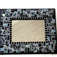 Black Mosaic Mirror