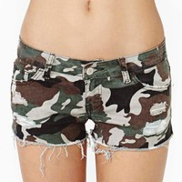 Camo Cutoff Shorts