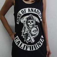 Sons of Anarchy California women tank top t-shirt vest tee from sabinashop