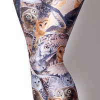 Owls Brown Leggings - LIMITED