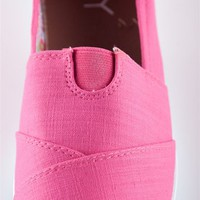 Canvas Slip On Flat - Fuchsia from Casual & Day at Lucky 21 Lucky 21