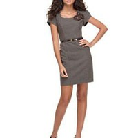 AGB Dress, Cap Sleeve Belted Tweed Sheath - ONE DAY SALE Dresses - Women's - Macy's