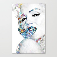 Marilyn Monroe (NOW WITH MORE SIZES) Stretched Canvas by NKlein Design