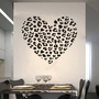 Cheetah Spot Print Heart Removable Wall Art Decal Sticker Decor Mural DIY Vinyl Dcor Room Home