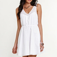 Kendall & Kylie Eyelet Skater Dress at PacSun.com