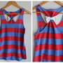 Bow Tank Top Red Stripes   Large  Limited Edition by personTen