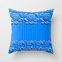 Letterpress Paisley Throw Pillow by Nina May