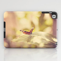 Flutterby iPad Case by Erin Johnson
