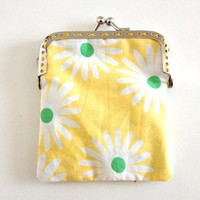 Yellow flower coin purse pouch from Kitsch Garage