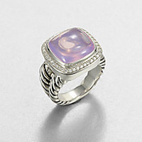 David Yurman - Lavender Moon Quartz, Diamonds & Sterling Silver Ring - Saks Fifth Avenue Mobile