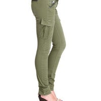 DJPremium.com - Women - Shop by Department - Pants - RCO Trooper Cargo Skinny Twill Pant