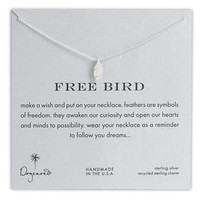 Dogeared &#x27;Reminder - Free Bird&#x27; Feather Necklace | Nordstrom