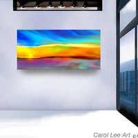 ABSTRACT PAINTING modern art custom commission by leearte on Etsy