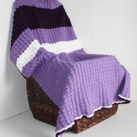 Afghan - Textured Lapaghan - Toddler Blanket