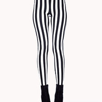 Vertical Stripe Leggings | FOREVER21 - 2050310157