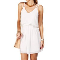 Pre-Order: Ivory Double Strap Chiffon Dress