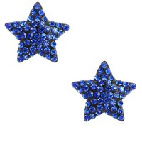 Blue Rhinestone Star Stud Earrings and Shop Accessories at MakeMeChic.com