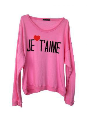 Wildfox Couture - Je T'Aime - Oversize Sweatshirt - Shop Now