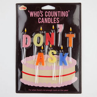 Don't Ask Birthday Candles 213471957 | Novelties | Tillys.com