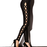 Crisscross Cutout Leggings | FOREVER 21 - 2061434574