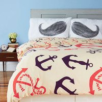 ModCloth Nautical Snooze Anchor Duvet Cover in Full, Queen