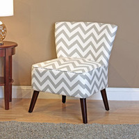 Walmart: Kinsley Chevron Accent Chair, Gray and White