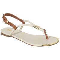 Women's Mossimo® Nina Braided Strap Thong Sandal - Off White