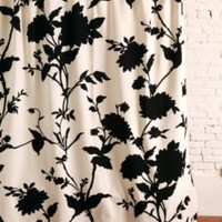 UrbanOutfitters.com &gt; Silhouette Flower Shower Curtain